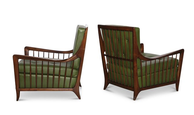 Paolo Buffa, 'Rare Pair of Open Arm Lounge Chairs,' ca. 1952, Donzella 20th Century Gallery