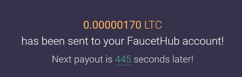 Autofaucet for Litecoin (will send to FaucetHub wallet