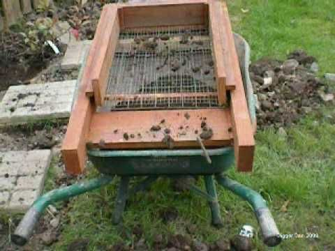 A Diy Powered Garden Soil Sieve Made From Timber And Driven By A