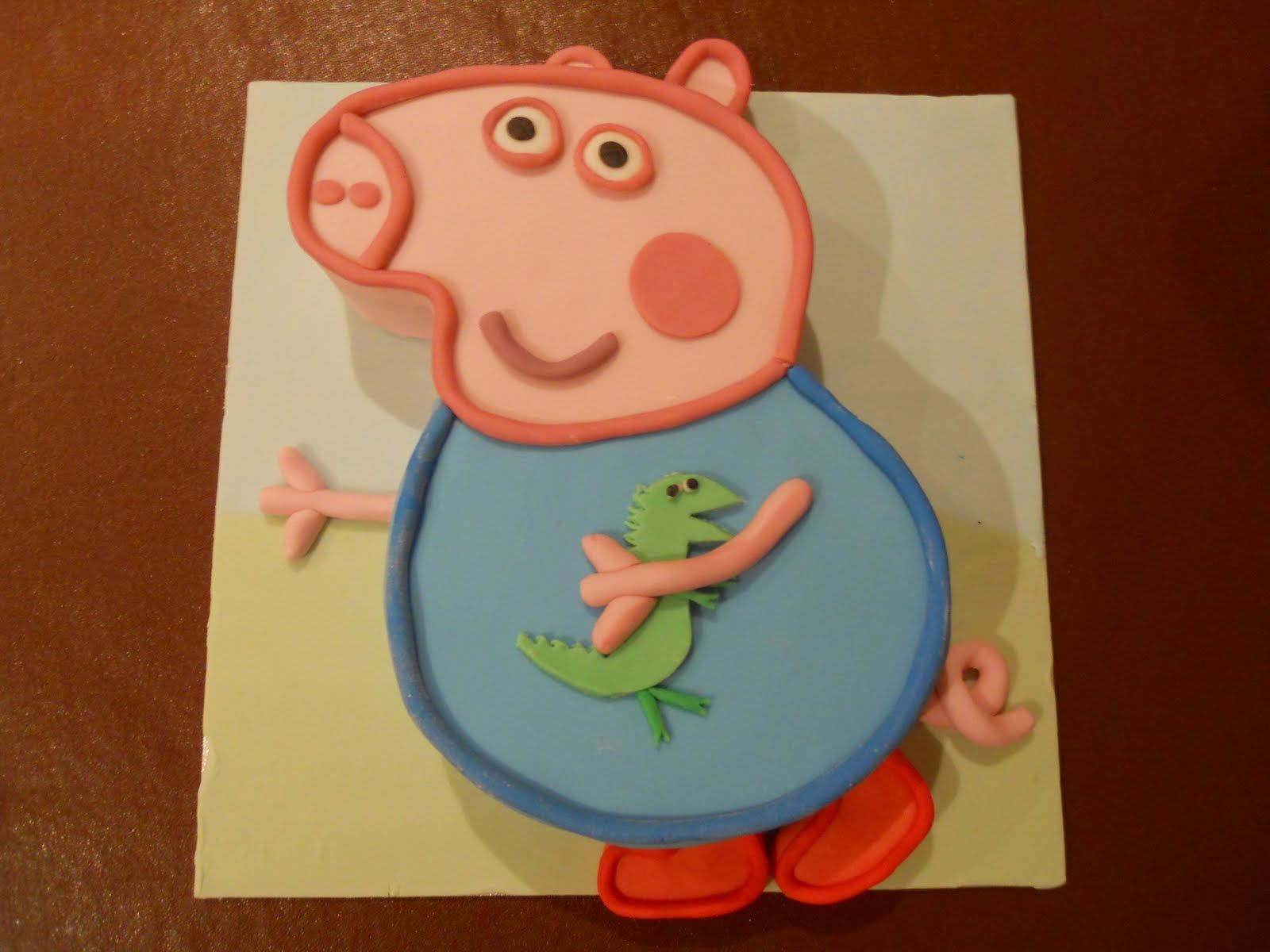 Pe peppa pig coloring pictures to print - Pin Peppa Pig George Cake