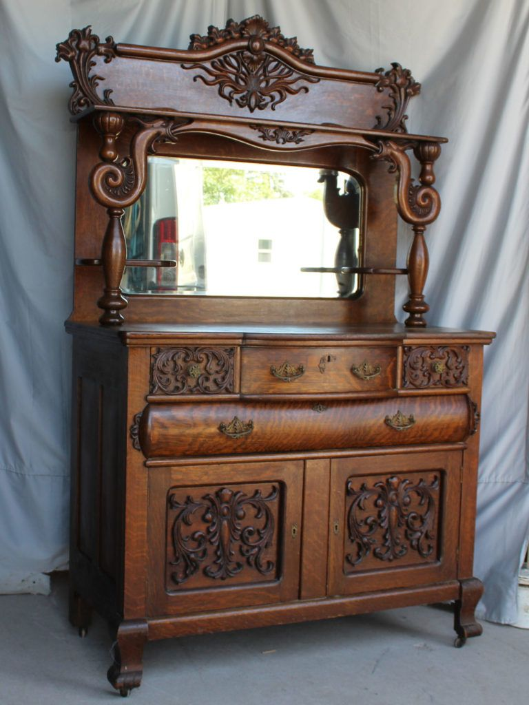 Antique Victorian Oak Sideboard Victorian Buffets And Sideboards
