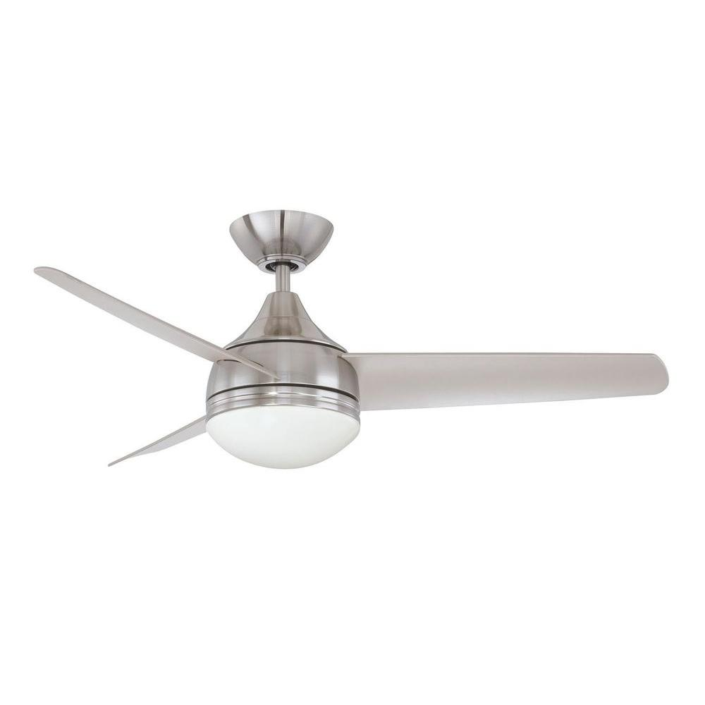 Filament Design Cassiopeia 42 In Satin Nickel Indoor Ceiling Fan Cli Kll1111555 The Home Depot Ceiling Fan With Light Ceiling Fan Modern Ceiling Fan