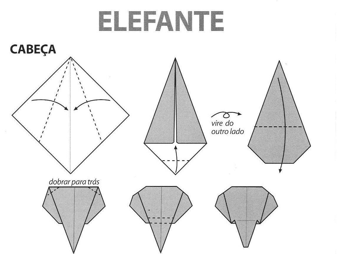 Excepcional origami niños elefante - Buscar con Google | origami animalitos  VS83