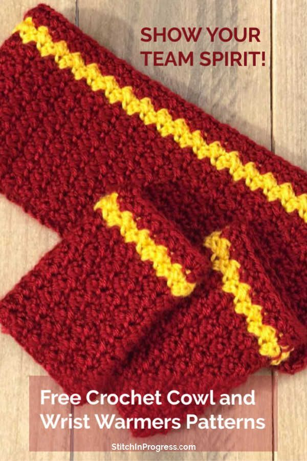 Crochet Team Wrist Warmers Pattern | Crochet Scarves,Hats,Mittens ...