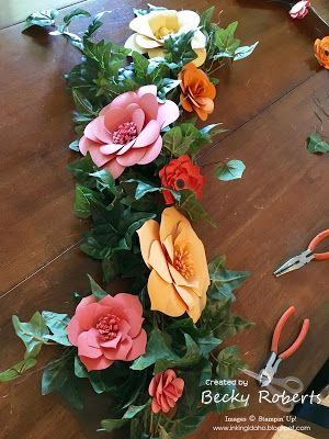 Paper Flower Table Decorations Inking Idaho Flower Table
