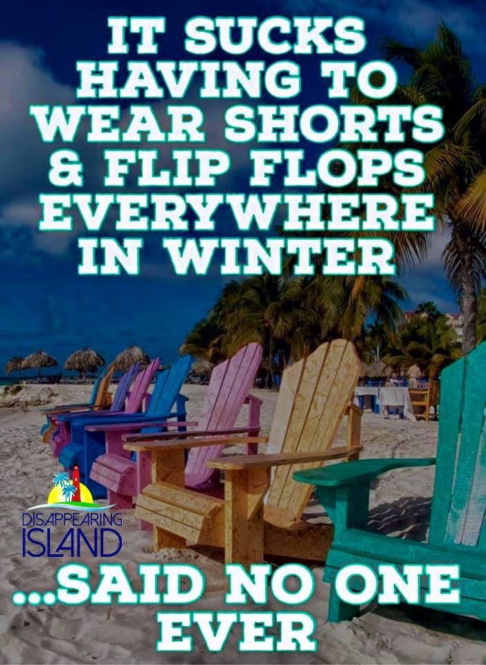 Flip flops in winter Changing seasons, Florida weather