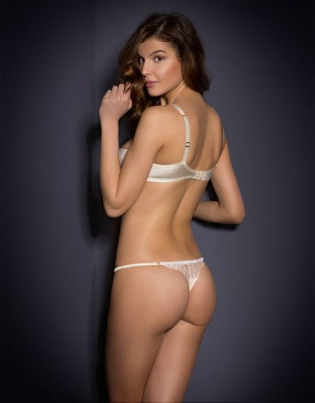 082a0bc0a5 Agent Provocateur Abbey Thong in White (cream)
