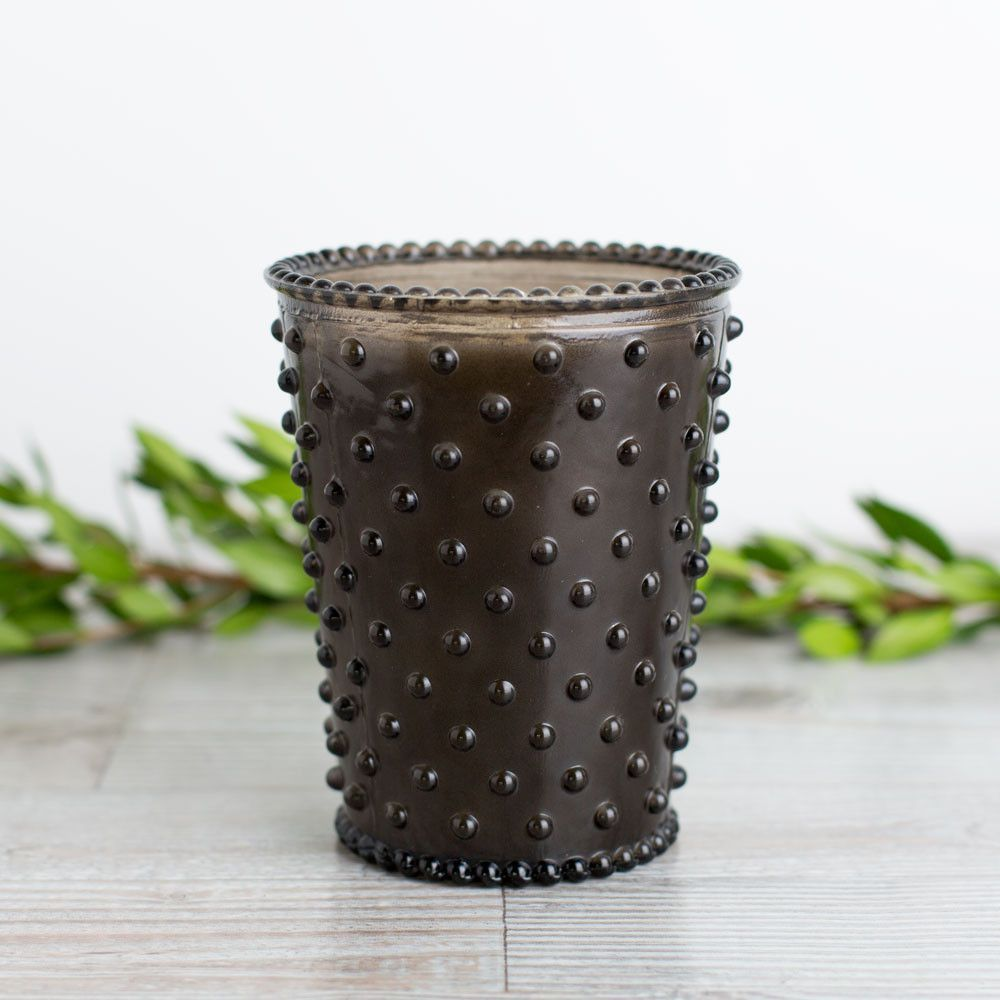 hobnail candle, forest night