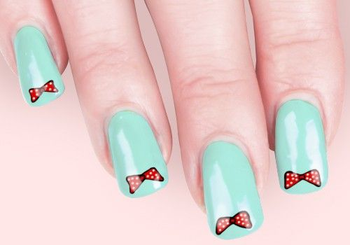 25 Adorable Bow Nail Art Designs To Die For Bow Nail Art Blue
