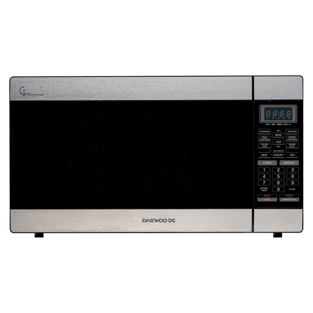 Products Daewoo 1 6 Cu Ft 1000 Watt Microwave Oven Stainless Steel Kor 167es