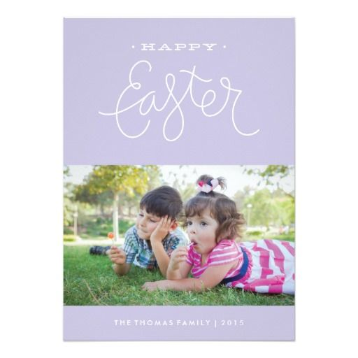 """easter greetings"" easter photo card 