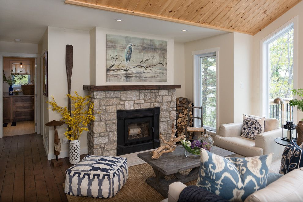 Wood Fireplace Mantels Living Room Beach With Art Above Fireplace