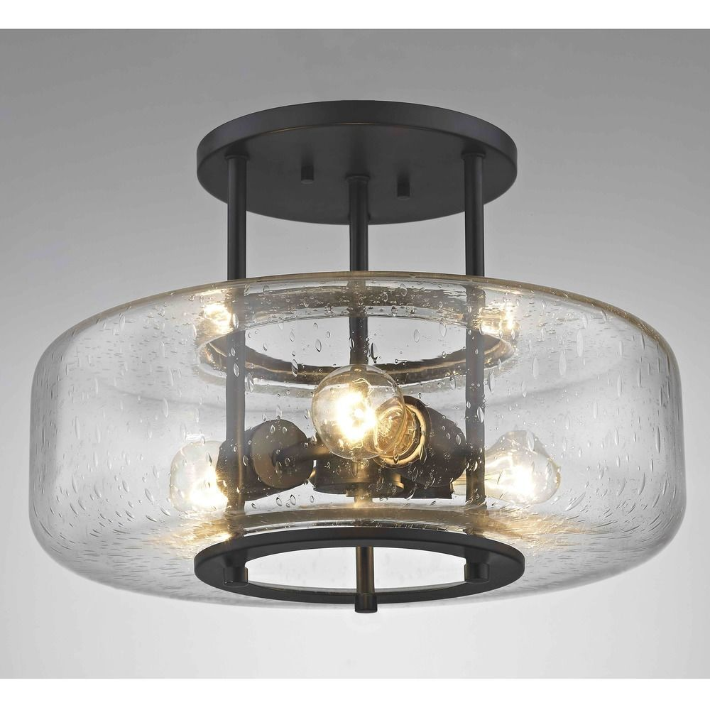 16 Inch Industial Seeded Glass Ceiling Light Bronze 3 Lt At Destination Lighting In 2021 Glass Ceiling Lights Ceiling Lights Uk Low Ceiling Lighting