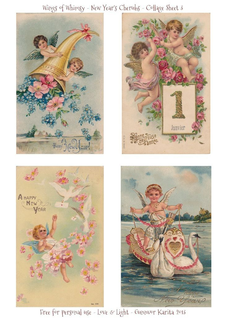 Wings of Whimsy: New Year's Cherubs