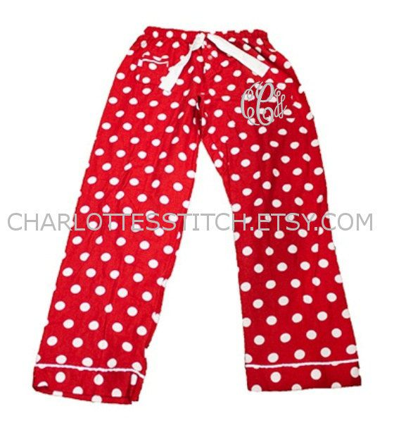 Monogrammed Christmas Pajama Pants Girl Sizes by CharlottesStitch ... 03f2e5246