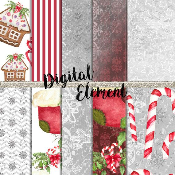Chirstmas Clip-art Holiday Clip-art Scrapbook by DigitalElement