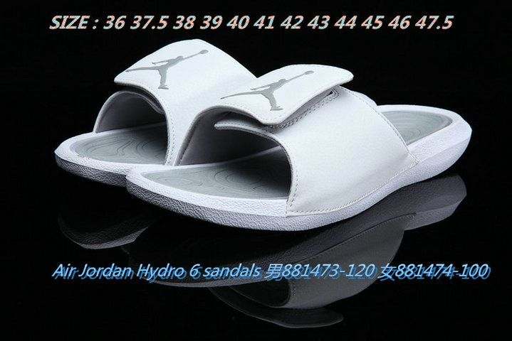 4f63f71128a5 2018-2019 Summer Authentic Official unisex Air Jordan Hydro 6 sandals slide  slipper pale gray Big Size 13