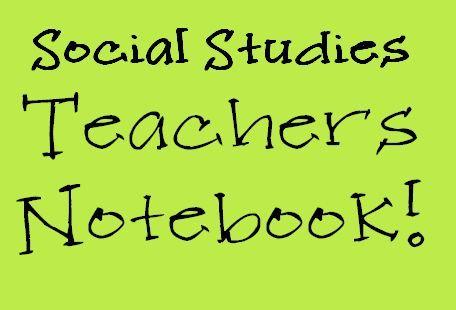 Social Studies ~ Teachers Notebook Elementary Items!