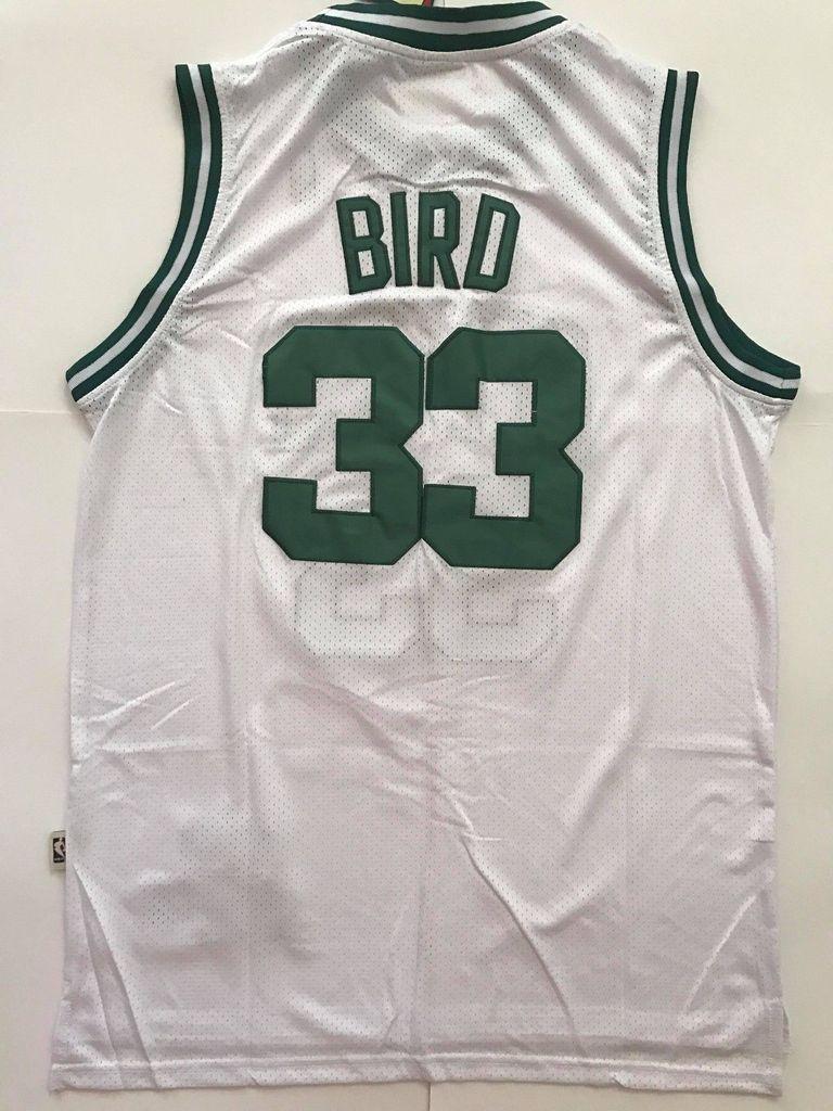 96e9206f6 Men 33 Larry Bird Jersey White Boston Celtics Swingman Fanatics ...