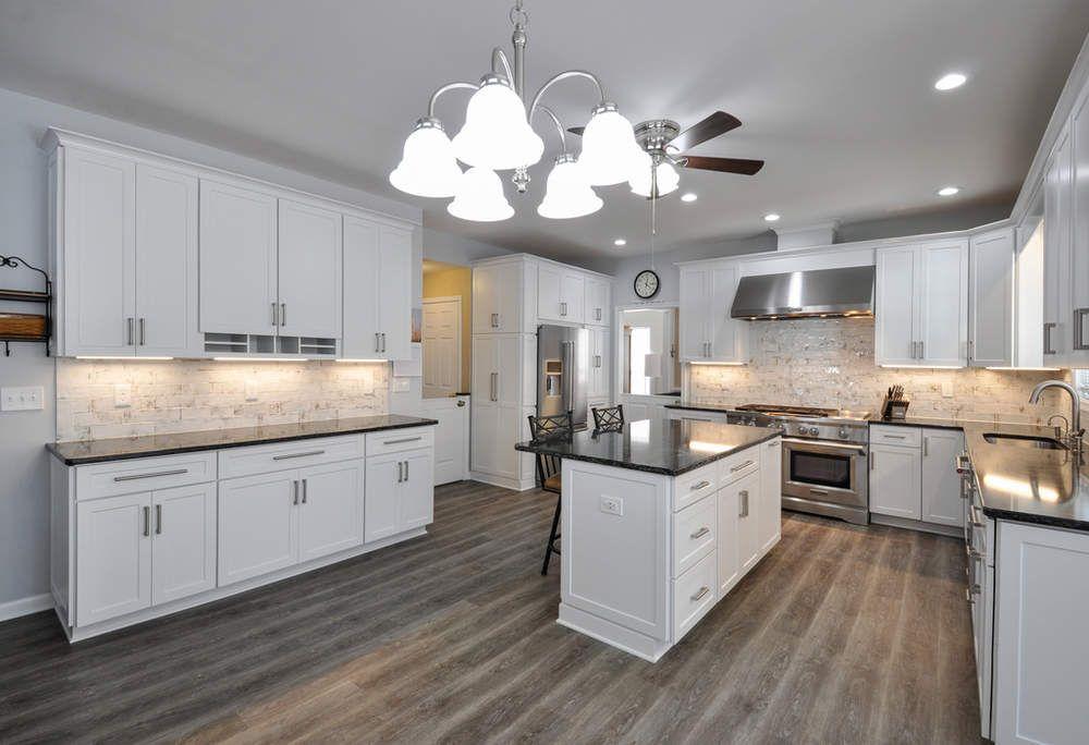 White Thermofoil Kitchen Cabinets Reico Kitchen Bath White