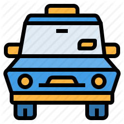 Car Drive Taxi Transport Vehicle Icon In Outline City Icon