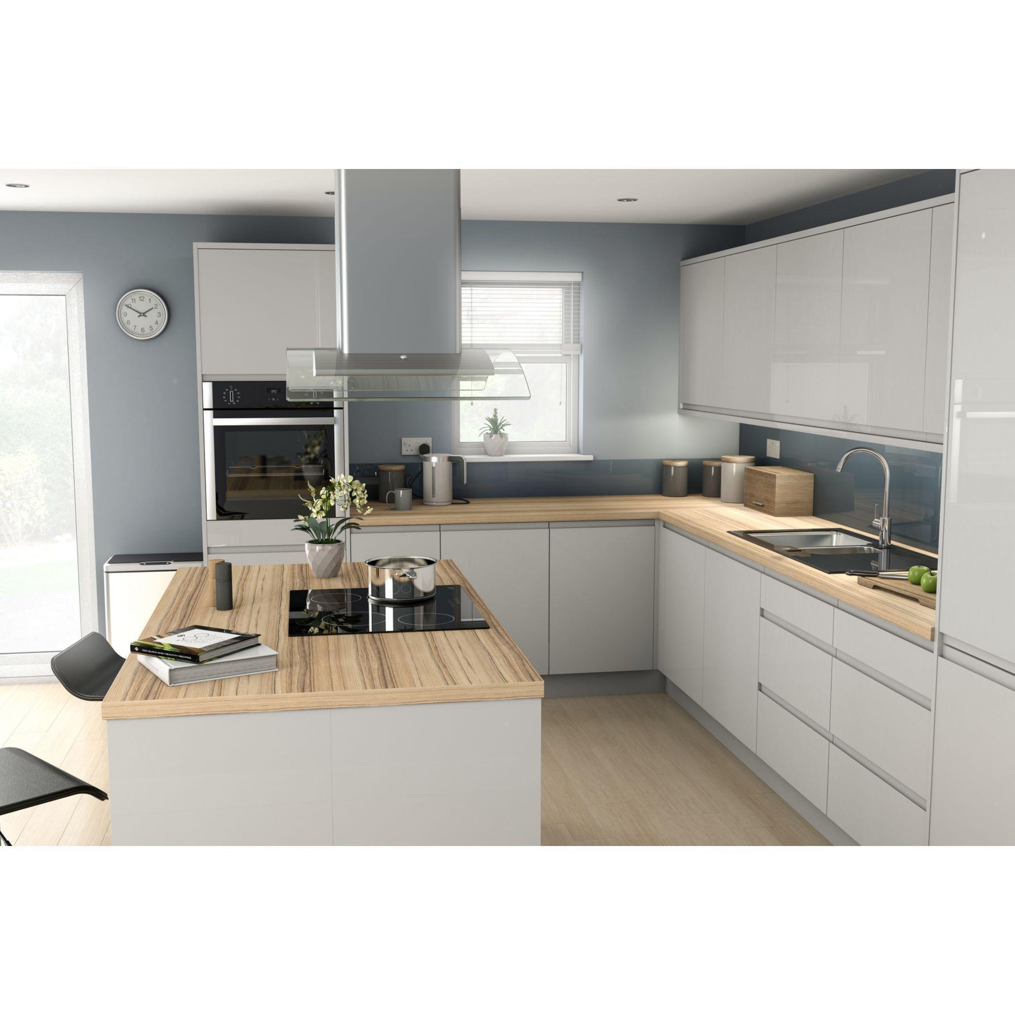 Best It Kitchens Marletti Gloss Dove Grey Belfast Sink Cabinet 400 x 300
