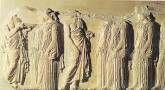 Fidias: friso de las panateneas. Partenón.