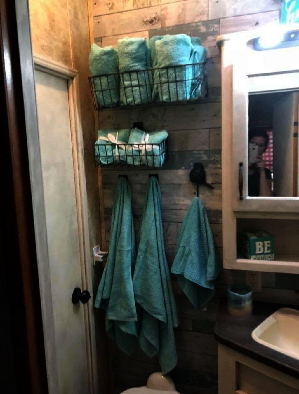 Sauder Caraway Etagere Bath Cabinet Soft White Finish Camper Organization Camper Storage Camper Decor