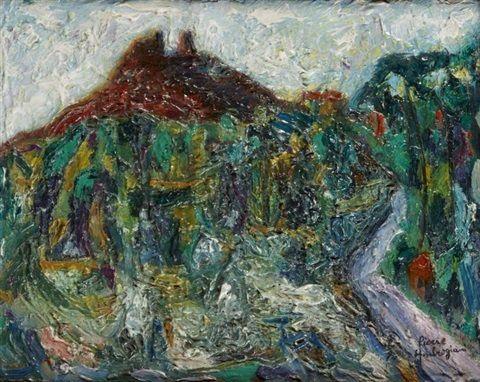 Paysage provençal by Pierre Ambrogiani