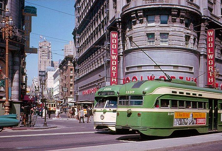 1961 Woolworth S At Market And Powell Street San Francisco Travel San Francisco California San Francisco City