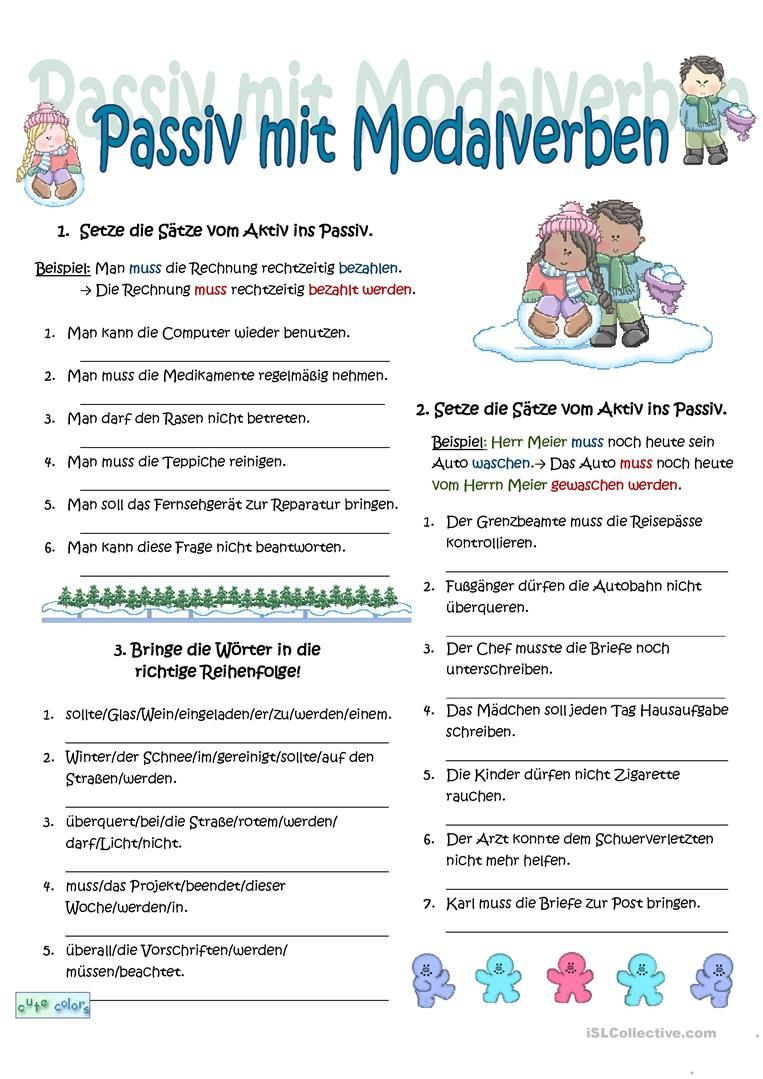 Passiv + Modalverben | ucenje nemackog | Pinterest | German, German ...