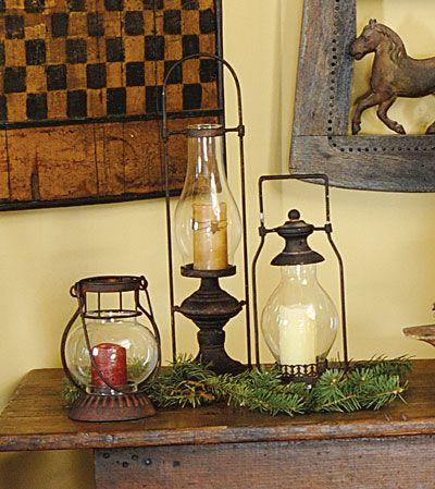 Cupboard lantern, barn lantern and garden lantern, Country ...