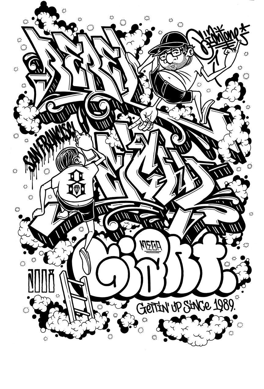 Mike Giant Graffiti Alphabet Mike Giant