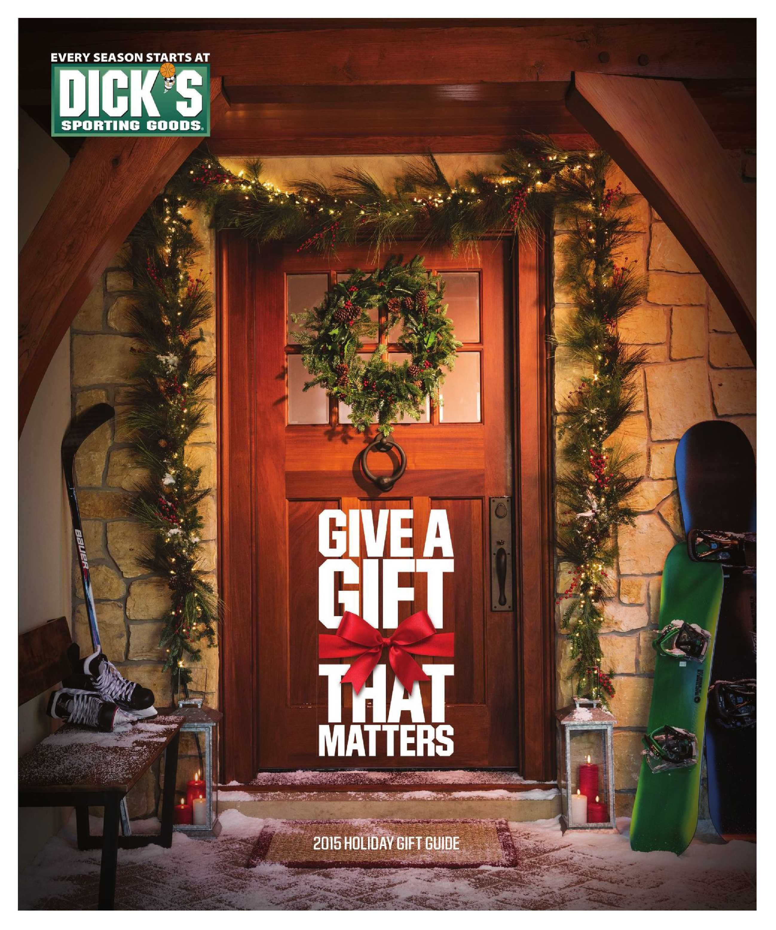 Dick's Sporting Goods Catalog November 9 - 21, 2015 - http://www.olcatalog.com/sports-toys/dicks-sporting-goods-ad.html