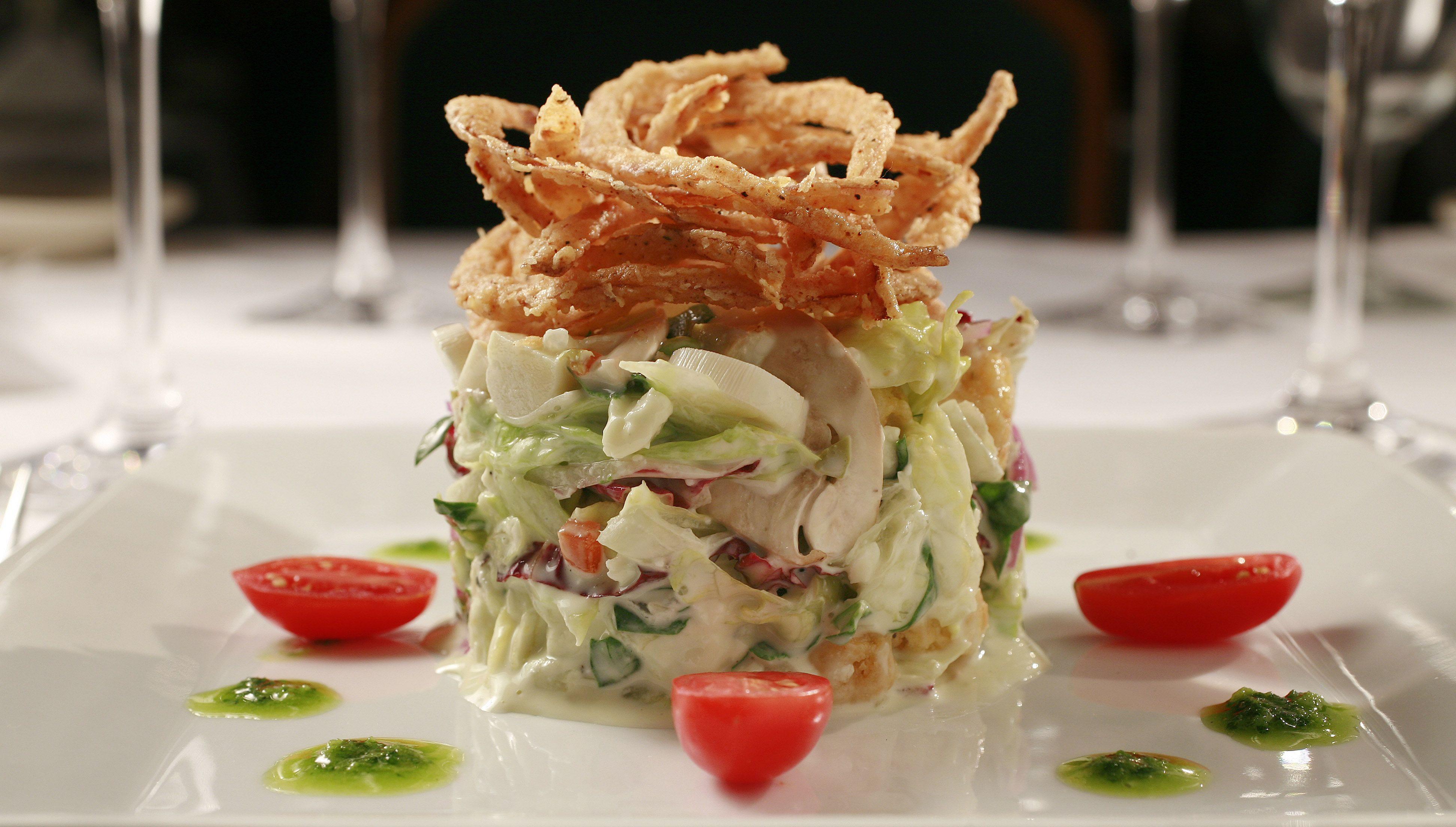 Chopped Salad With Lemon Basil Dressing Recipe Chopped