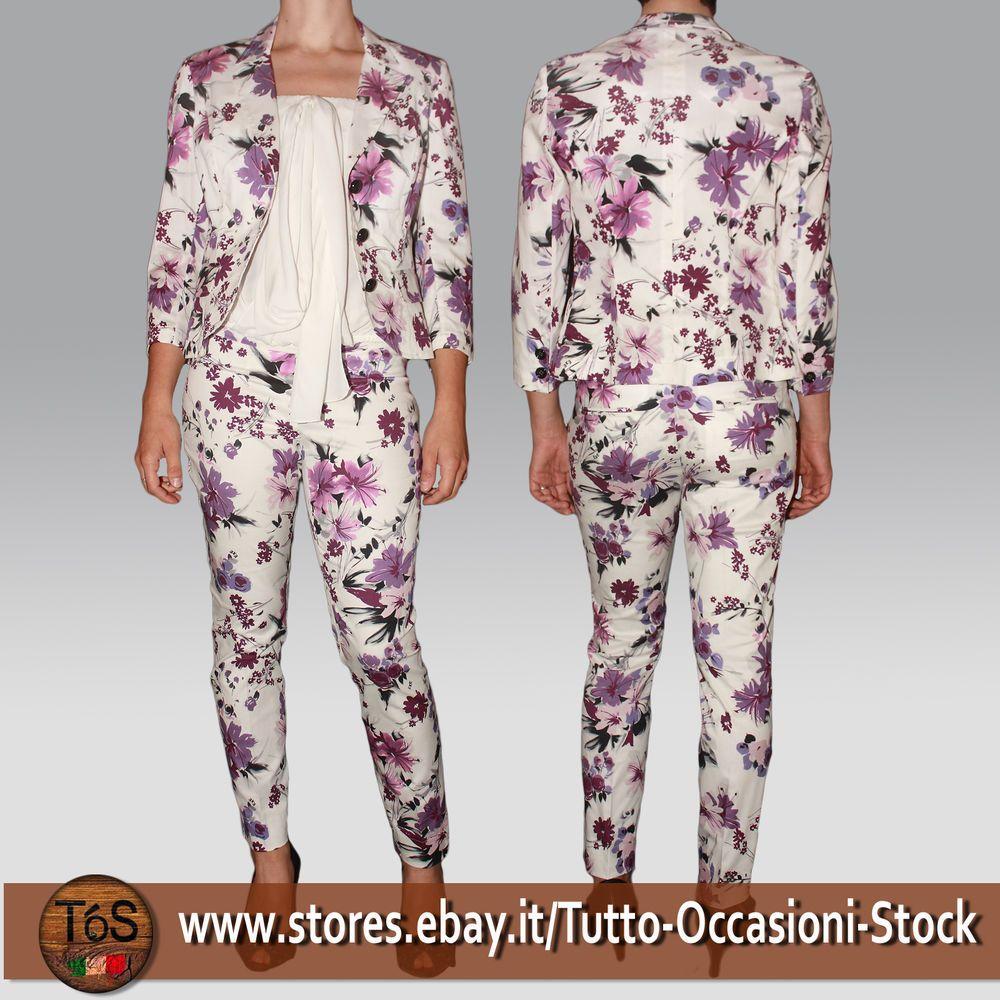 Elegante Donna Completo Giacca Pantalone Tailleur Cerimonia Vestito 18w1qXFa6