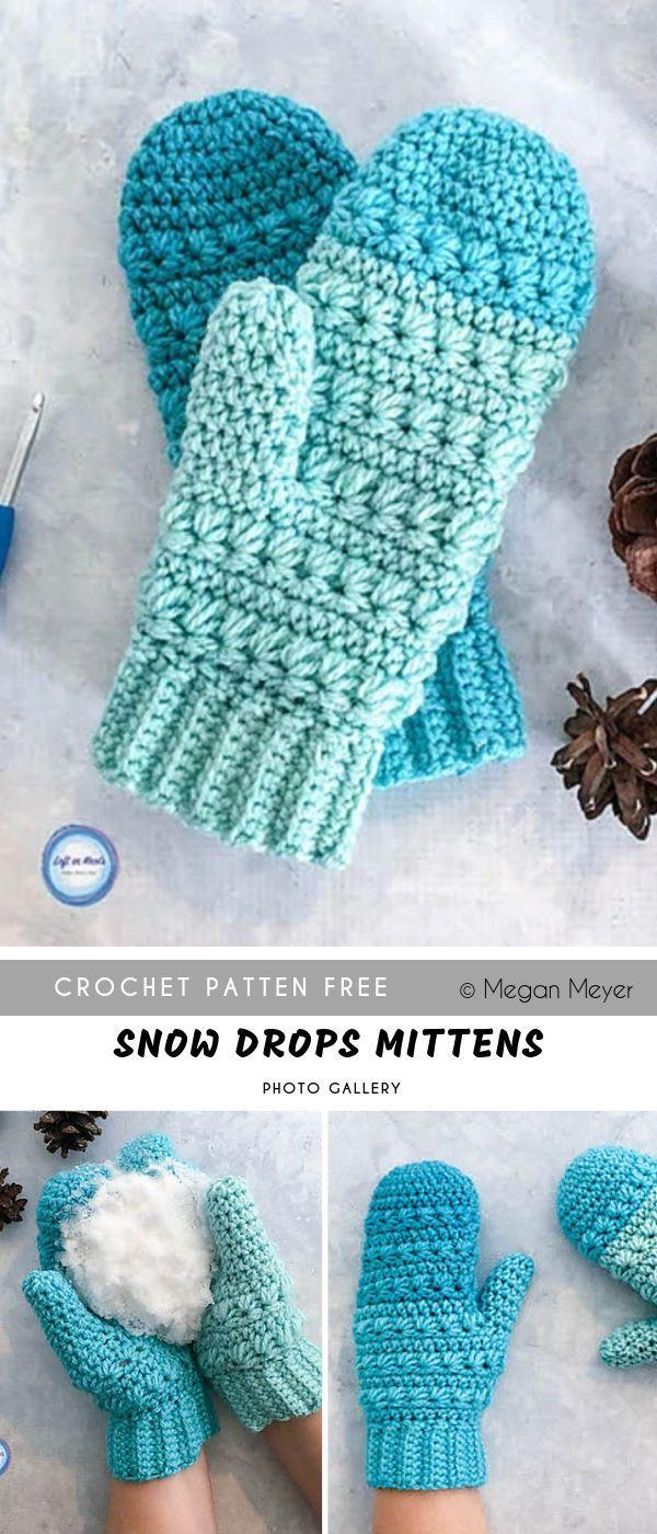 Frozen Fingers Crochet Mittens Free Pattern #crochetscarves