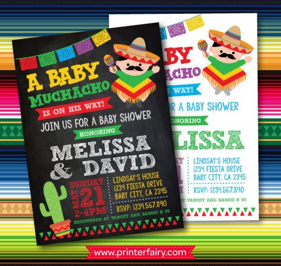 Mexican Fiesta Baby Shower Invites, Fiesta Baby Shower Invitations, Mexican  Baby Shower Invitations, Digital, 2 Options