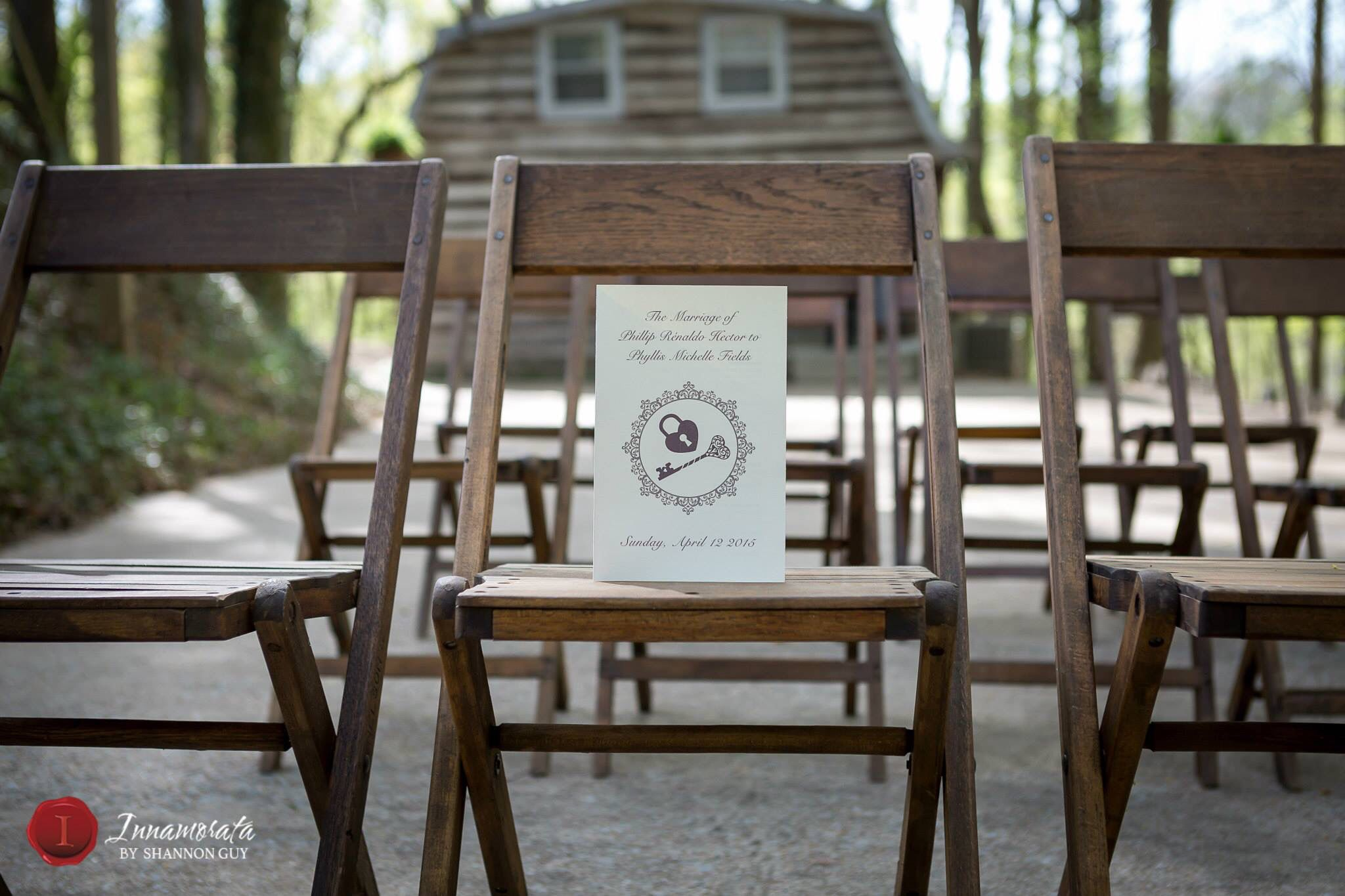 Tanglewood house in Clarksville Tennessee wedding program