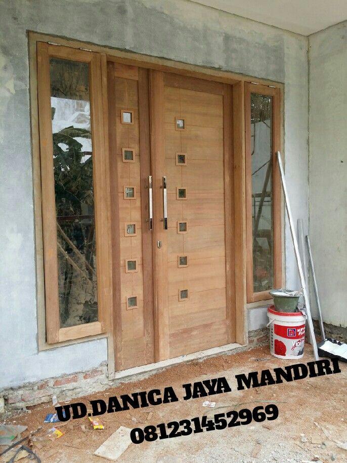 Pintu utama kayu kamper 4jt.tlp/wa 081231452969