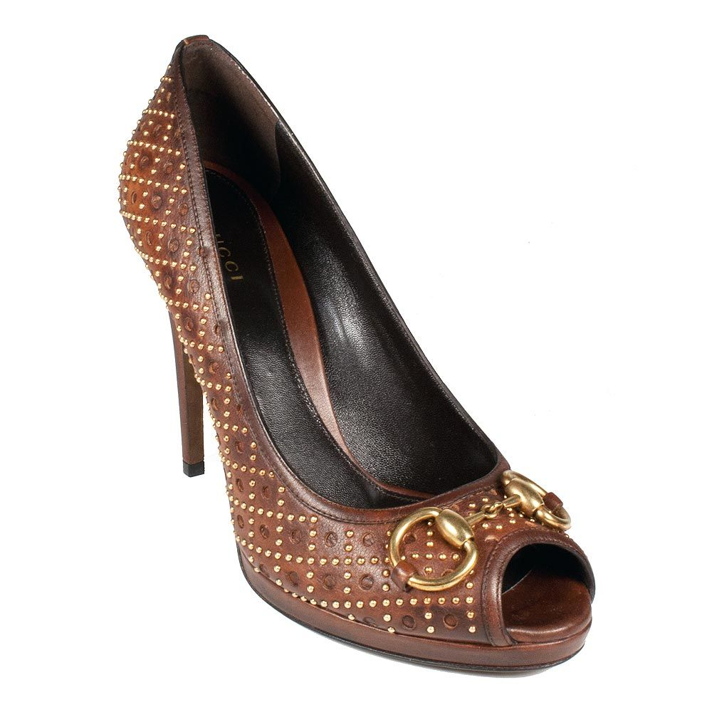 brown womens couture shoes | Gucci Shoes for Women Brown Leather ...