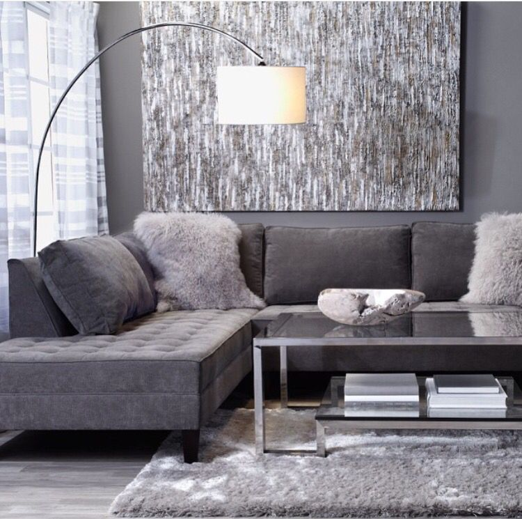 Grey Tone Living Room With Images Luxury Decor