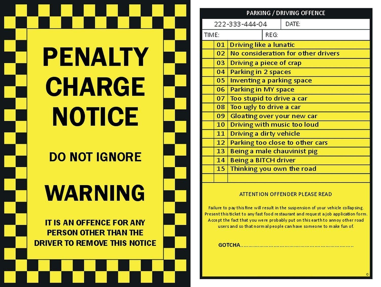 Fake Parking Ticket Printable Free Download Ticket Template Printable Tickets Ticket Template Printable