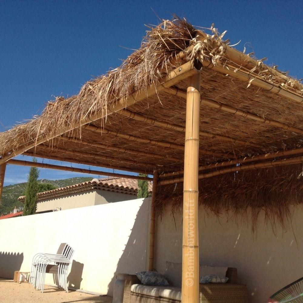 Pergola Ou Tonnelle En Bambou Pergola Bambou Feuille Palmier