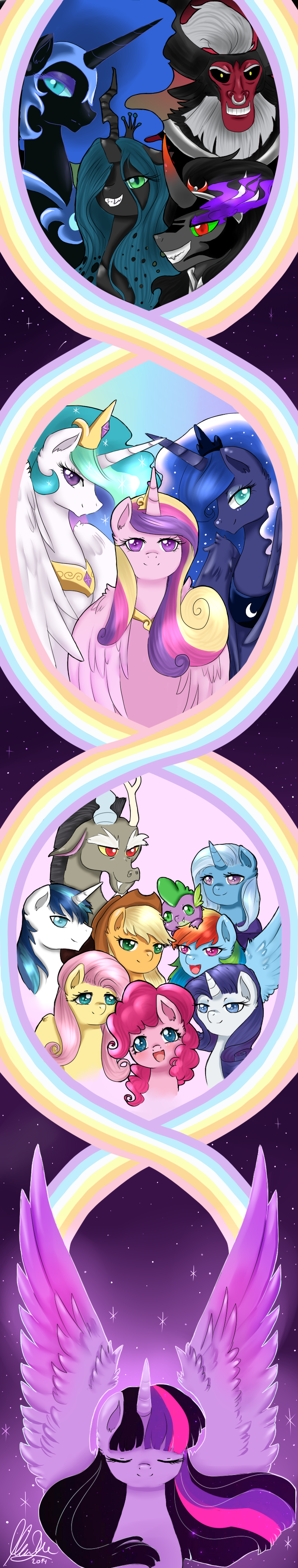 Image tirek throws twilight towards the mountain s4e26 png my - Rainbow Pie On