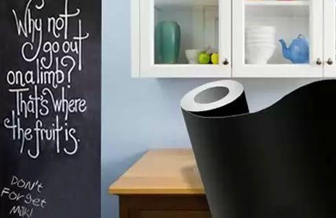 Chalkboard Wall Sticker Capable Of Turning Any Ordinary