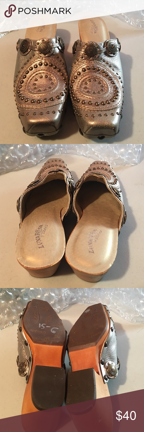 luna rose by pazzo clogs size 6 luna rosa by pazzo clogs size 6 small nick im bag clog as shown Shoes Mules & Clogs