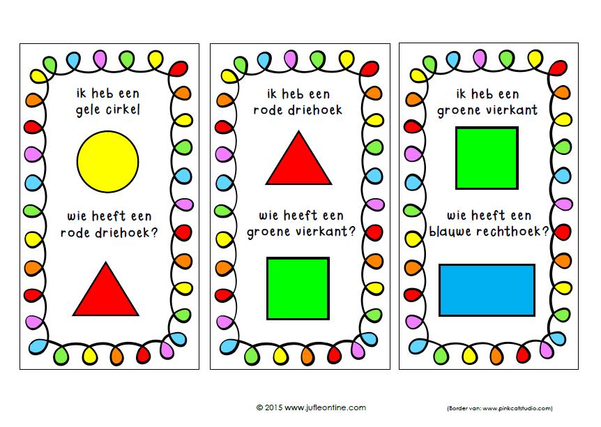 Fonkelnieuw Ik heb wie heeft vormen en kleurenspel | Vormen leren, Vormen, Kleuter HM-05