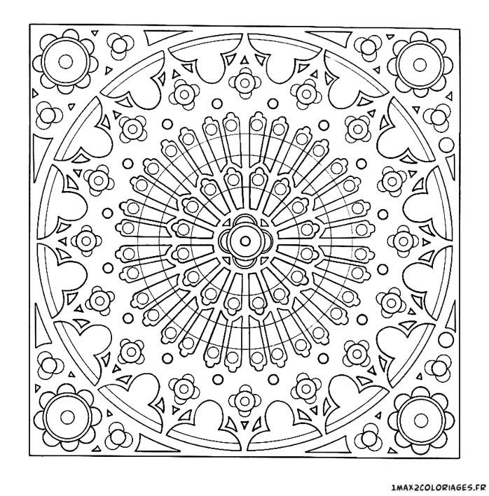 coloriage anti stress rosace