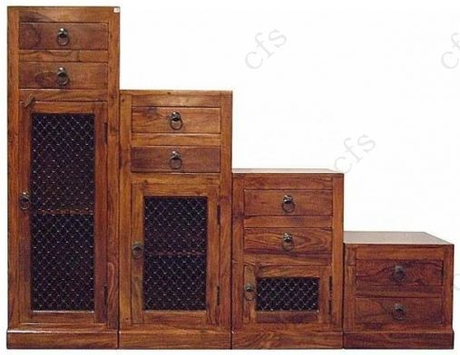 Jaipur Furniture Step Chest - 3 Doors 8 Drawers